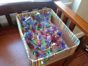 All of the favors wrapped up!